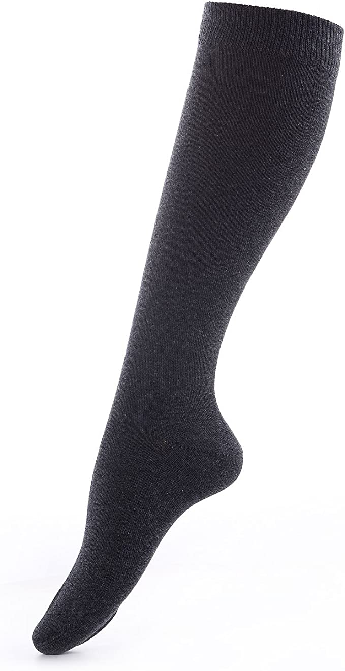 Laulax High Quality Finest Combed Cotton Knee High Socks in 9 Designs Size UK 3-7//Europe 36-41