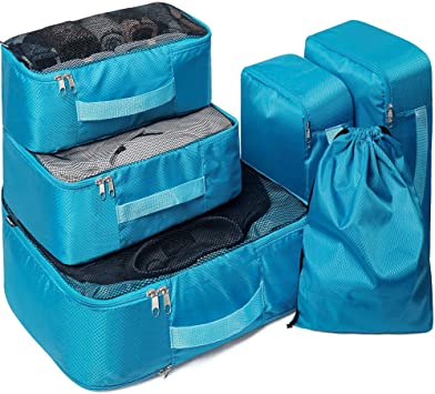 Expandable Storage Packing Cubes 4 Set Travel Luggage Packing Organizers Compression Packing Cubes