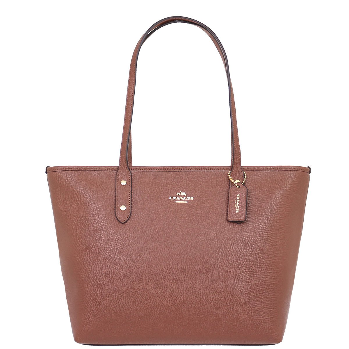 Coach Bag (Tote Bag) F58846 Leather Tote Bag Women's [Outlet Item] [Parallel Import Goods] (Saddle 2)