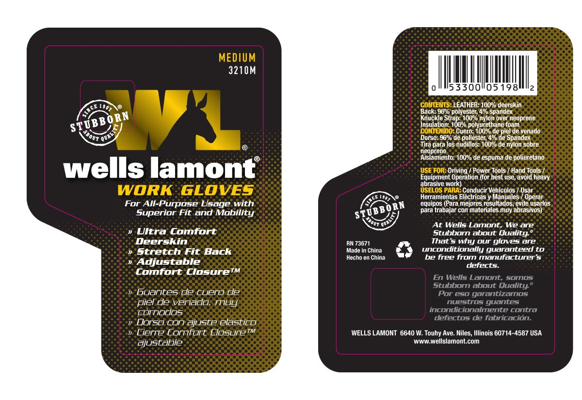 Ultra Comfort Grain Deerskin Work Gloves, Adjustable Wrist, Spandex Back, Medium (Wells Lamont 3210M) - Wells Lamont Gloves Men - Amazon.com