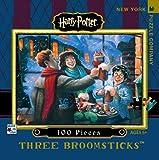 New York Puzzle Company - Harry Potter Three Broomsticks Mini - 100 Piece Jigsaw Puzzle
