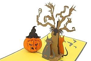 PopLife Trick or Treat Halloween Pop Up Card, 3D Cards - Dia de los muertos Party Favor