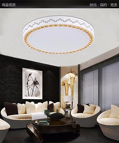 lbcvh Moderno LED redondo cristal - Lámpara de techo para ...