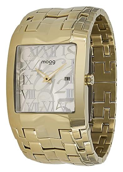 Moog Paris Jewel Rain Reloj para Mujer con Esfera Plateada