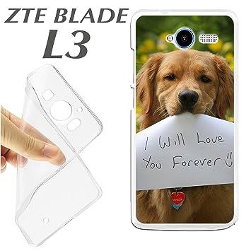 J273 ZTE BLADE L3 CARCASA FUNDA TPU PERRO I LOVE YOU FOREVER ...