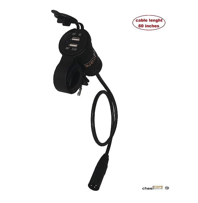 USB adaptador/cargador de batería para Scooters y sillas de ...