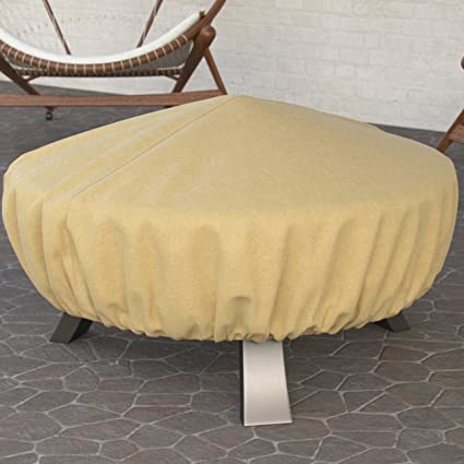 Peachy Dura Covers Fade Proof Tane 44 Heavy Duty Round Fire Pit Cover Durable And Water Resistant Firepit Cover Large Uwap Interior Chair Design Uwaporg