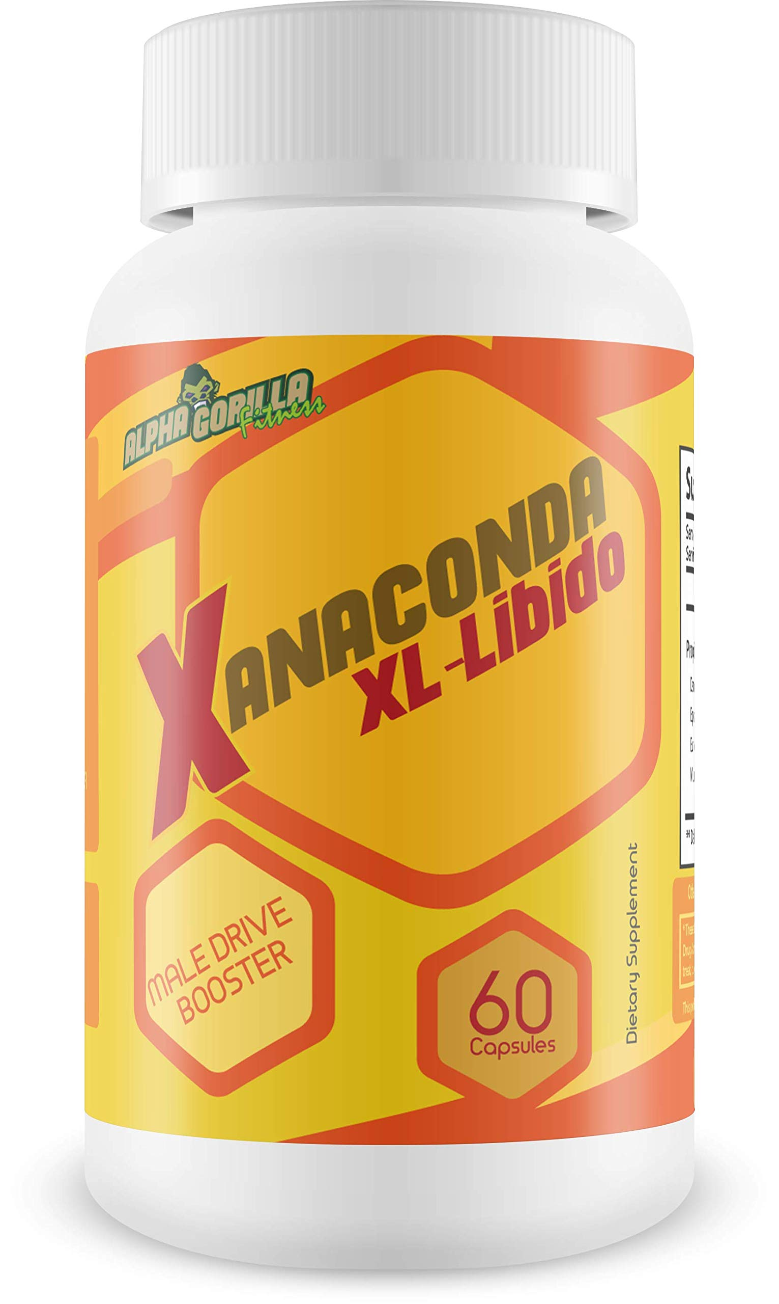 Anaconda XL Libido - Male Drive Booster - Feel The Need - Support Motivation and Purpose - Help Feel Greater Sensation - Life Deserves to be Climactic - Paltrox RX Free Blend - Unleash The Beast
