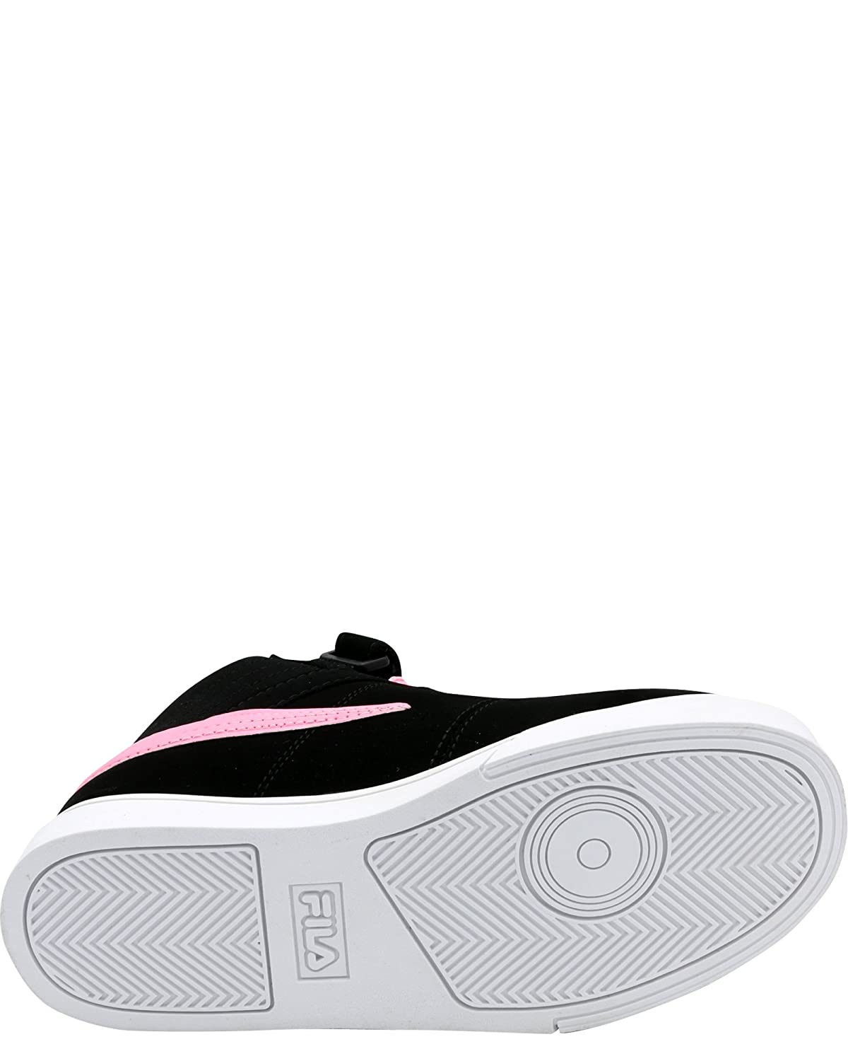 Big Kid ,Black//Pink,7 Fila Girls Vulc 13 Mid Plus Sneaker