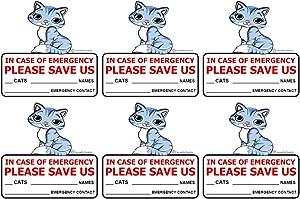 SecurePro Products - 6 Cat Pet Rescue Window Door Sticker Decals, Size - 4
