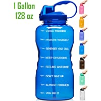 $20 Get Venture Pal Large 128oz Leakproof BPA Free Fitness Sports Water Bottle with Motivational…