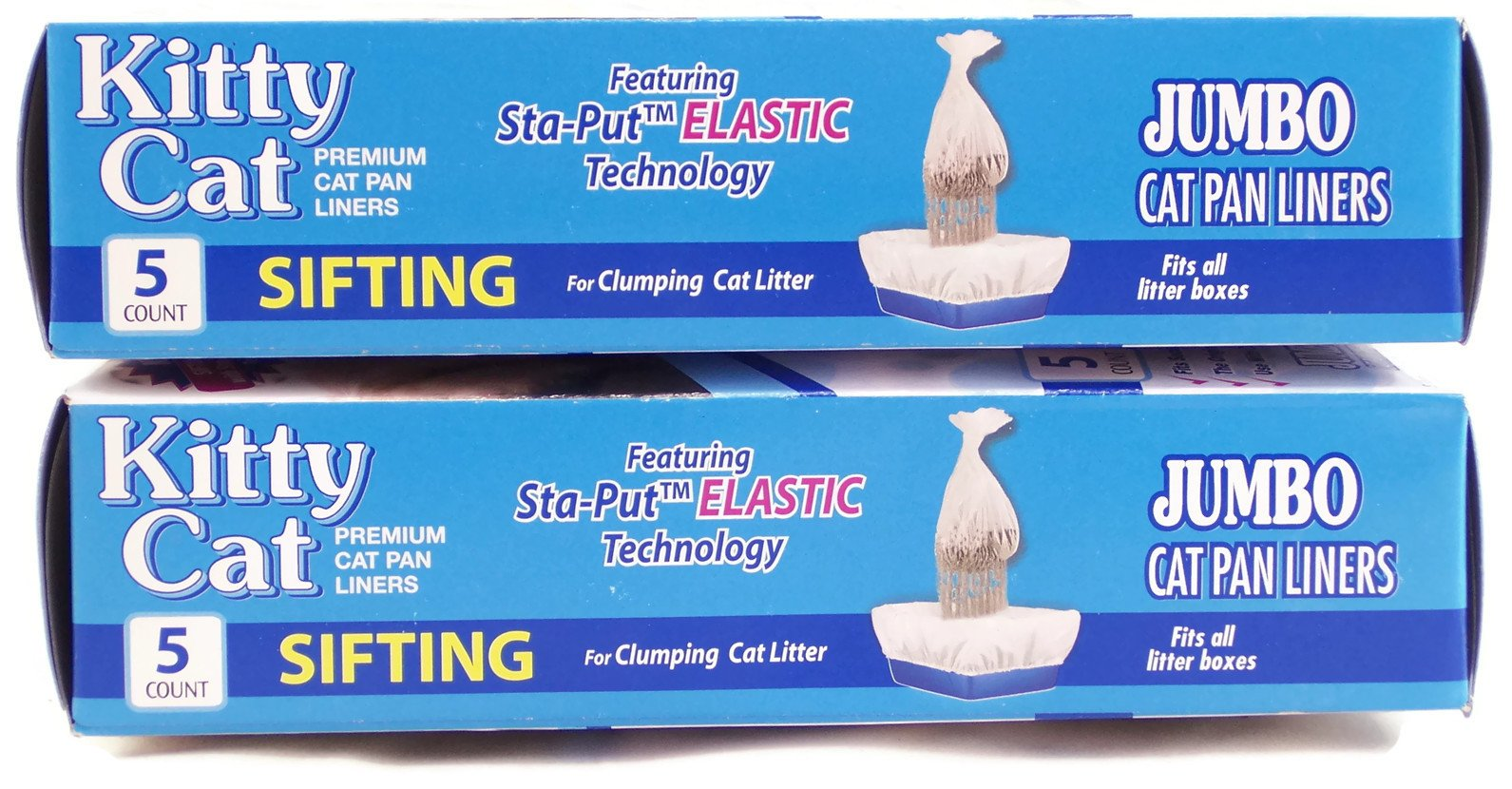 Alfapet Kitty Cat Sta-put Elastic Sifting Litter Box Liners Jumbo Size 5 Count (2-Pack/Boxes) by Alfa Pet (Image #2)