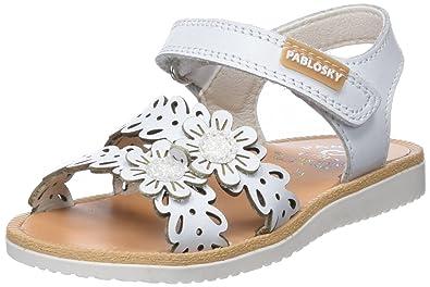 Pablosky Mädchen 29700 Peeptoe Sandalen, Elfenbein (Blanco 029700), 20 EU