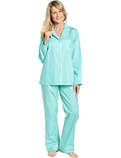 f8e0f1b06a Noble Mount Womens Premium 100% Cotton Yarn Dyed Flannel Pajama ...