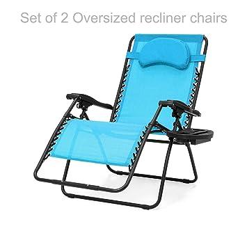 Amazon.com: Extra de gran tamaño ZERO GRAVITY silla al aire ...