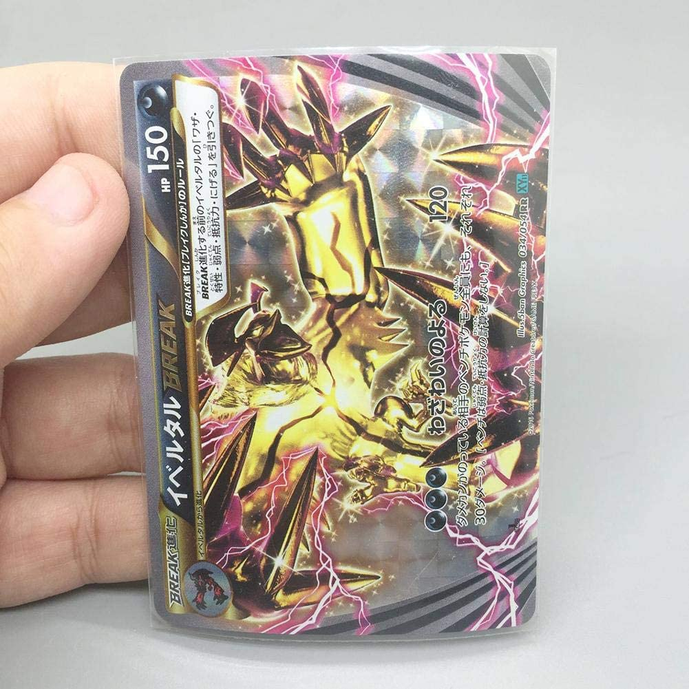 Exuberanter 100PCS Magic Card Sleeves Clear Card Protector Sleeves For Poker Cards Board Game Cards 6.5X9.0CM//6.1X8.7CM