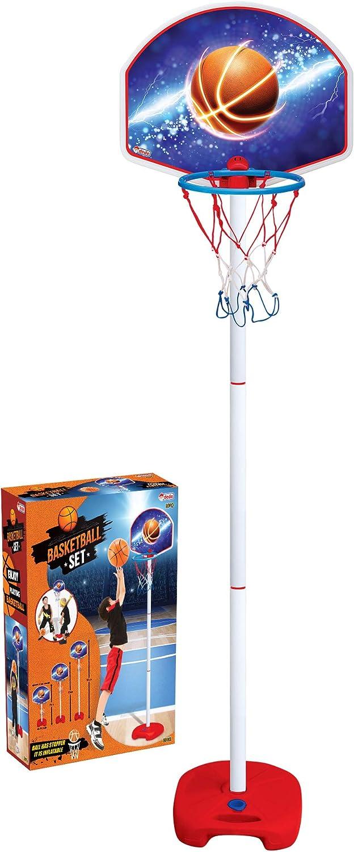 Hauteur r/églable Portable Panneau Exterieur Stand Stable air Ed-co Dede Panier de Basket sur Pied pour Enfants avec Ballon