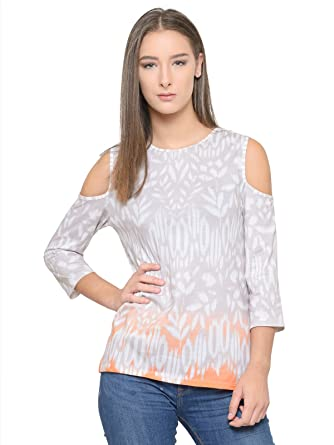 Tunic Nation White Printed Top Women's Tops