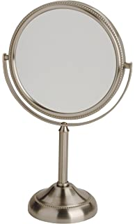 44 Ounce Jerdon JP918BZB 1X and 10X Magnified Table Top Mirror Bronze Finish