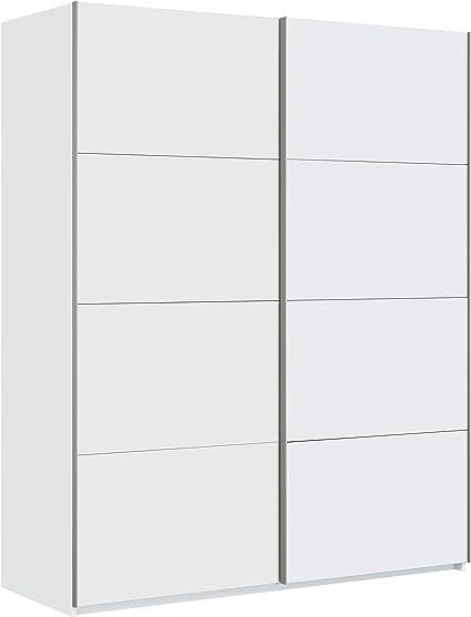 Habitdesign Armario Ropero, Dormitorio, Armario 2 Puertas correderas, Modelo Hera, Acabado en Color Blanco Artik, Medidas: 150 cm (Ancho) x 200 cm ...