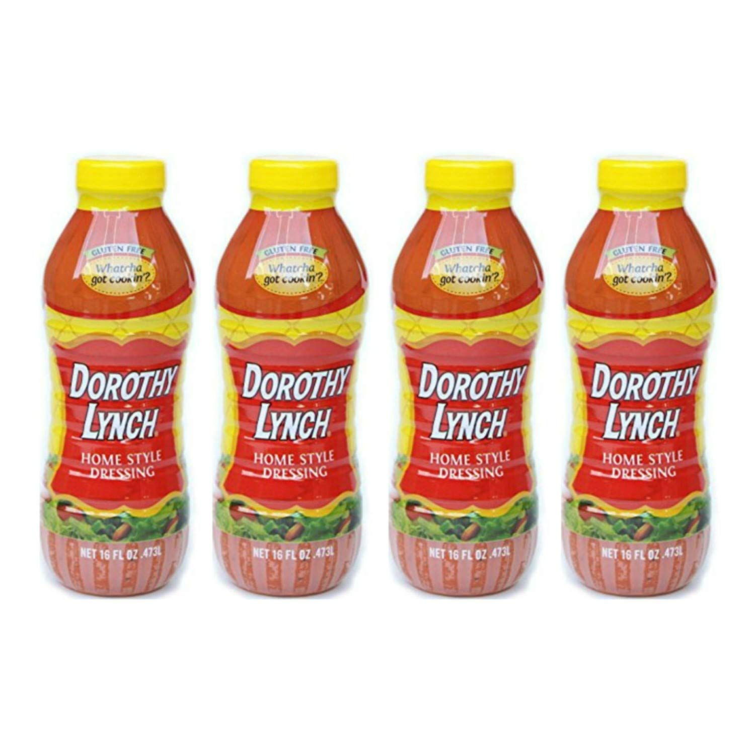 Dorothy Lynch Homestyle Dressing 16 oz   Pack of 4   Gluten Free   No MSG or Trans Fat   Best Dressing & Condiment   Made In USA