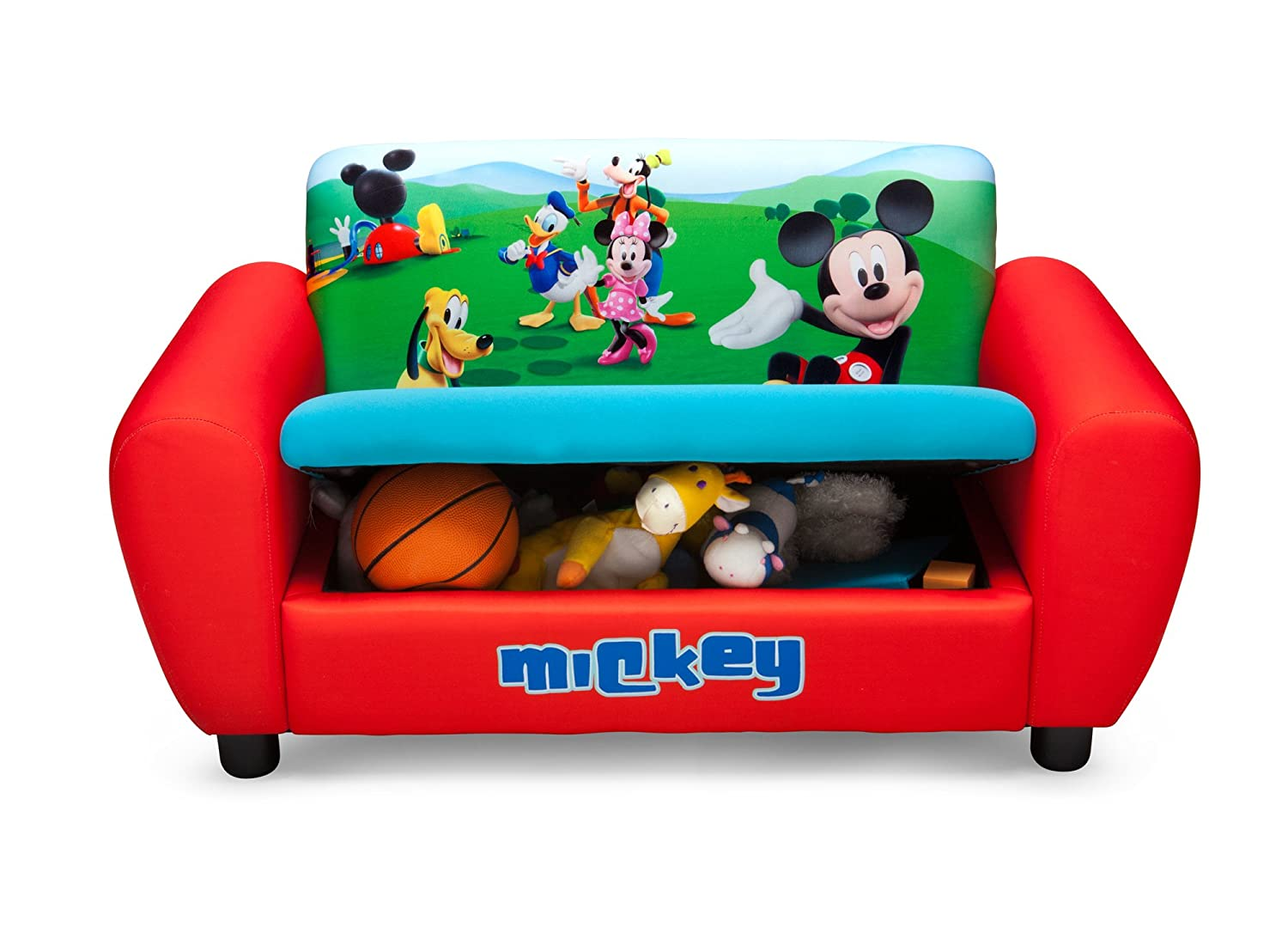 Beau Amazon.com: Delta Childrenu0027s Products Mickey Mouse Upholstered Sofa: Toys U0026  Games