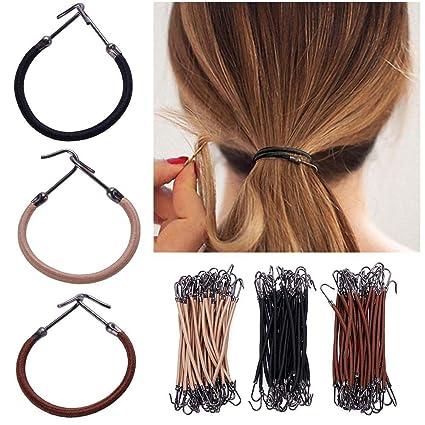 RUNGAO - 15 bandas elásticas para el pelo, 3 colores, gancho de goma,
