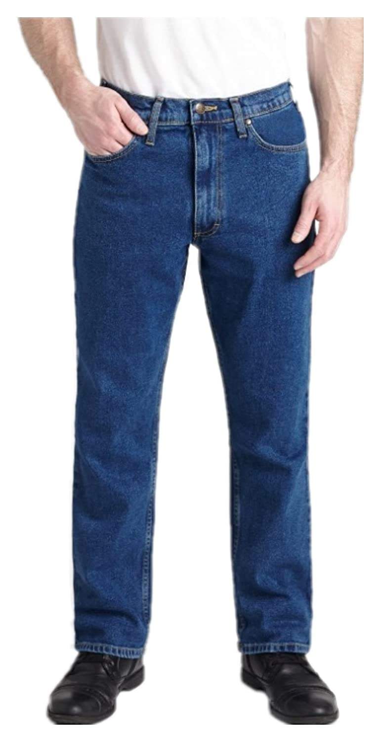 Grand River Medium Stone Stretch Traditional Straight Cut Jeans
