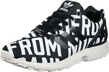 vente chaude en ligne 17801 d7de4 adidas Originals ZX Flux RO W Chaussures Mode Sneakers Femme Noir Blanc