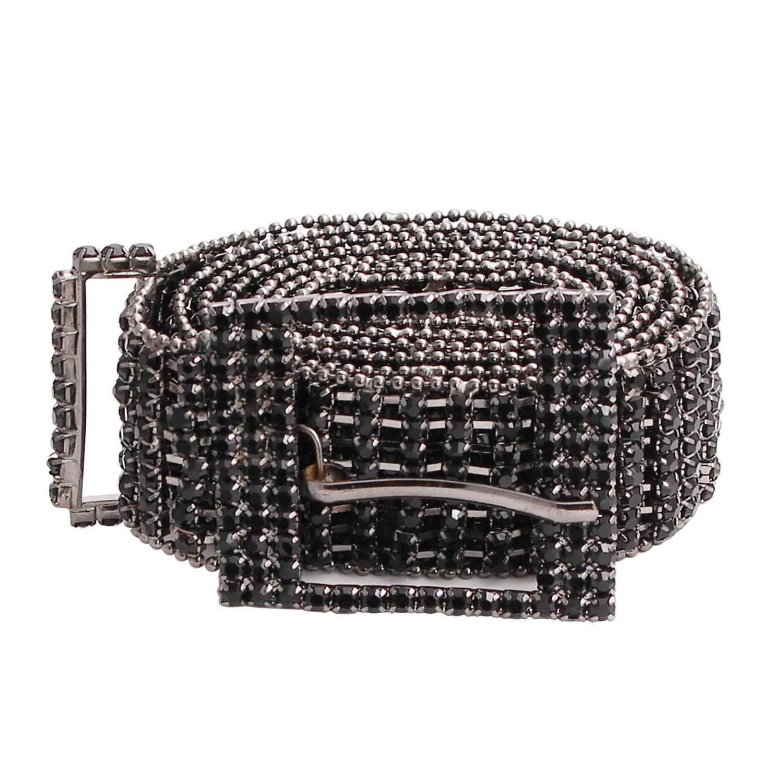 Cinturino in strass di cristallo argento di alta qualit/à Cinturino in catena di diamanti argento Cinturino di moda accessorio