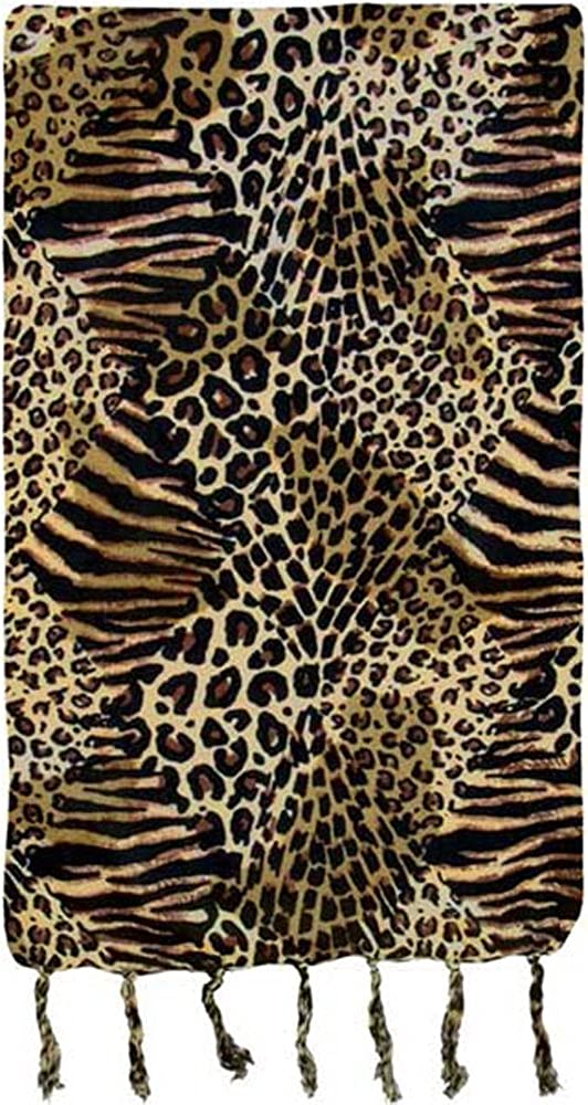 Turtle Island Imports Leopard with Stripes Animal Print Sarong