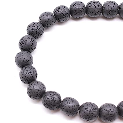 200 Dyed Volcanic Lava Rock Gemstone Beads Natural Stone Round 8mm Loose DIY