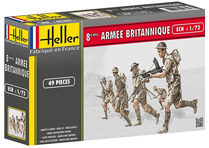 Heller British 8th Army Model Kit (Set of 49) (1/72 Scale)