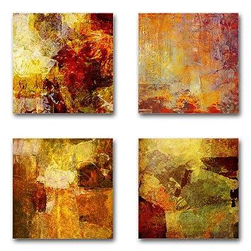 Gut Abstrakt   Set B Schwebend, 4 Teiliges Bilder Set Je Teil 29x29cm,