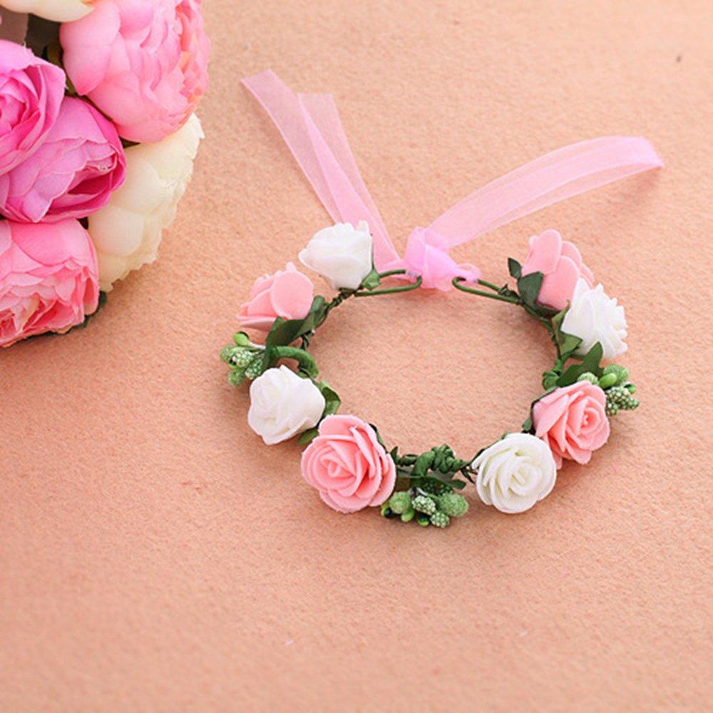 Wrist Flowers Corsage Wedding Party Prom Dress Bride Bridesmaid