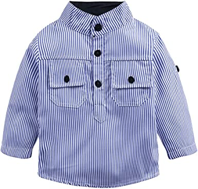 Julhold Toddler Kids Baby Boys - Camisa de Manga Larga a Rayas para bebé, Color Azul: Amazon.es: Ropa y accesorios