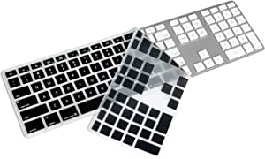 Silicone Keyboard Cover for Apple iMac Wired USB Keyboard with Numeric Keypad MB110LL/B (A1243) US Layout Ultra Thin Protector Skin (for Apple iMac Keyboard (MB110LL/B), Black)