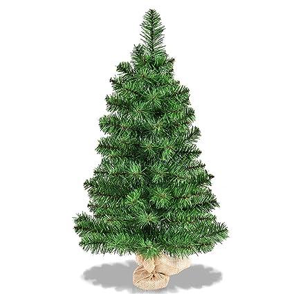 Goplus 3 Ft Christmas Tree Tabletop Artificial PVC Green Spruce Tree in  Burlap Base - Amazon.com: Goplus 3 Ft Christmas Tree Tabletop Artificial PVC Green