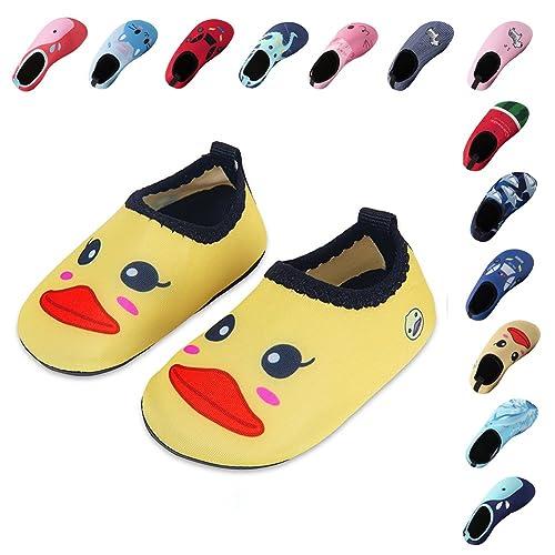 459598cb5 Laiwodun zapatos de niño Zapatos de agua de natación Niños Zapatos de niños  descalzo Aqua calcetines para la piscina de playa Surf Yoga Unisex   Amazon.es  ...
