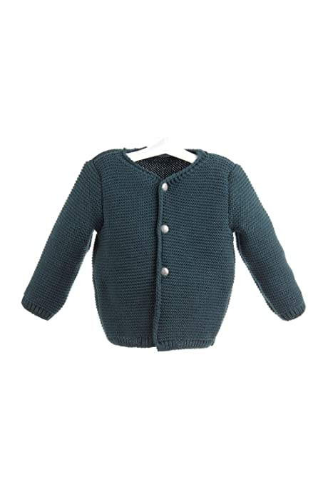 Isabel Maria - Chaqueta tirolesa para bebé de punto bobo - 2 años, Verde Oscuro