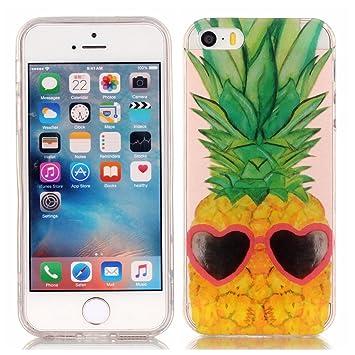 iPhone 5S Funda, iPhone SE Funda, Lifeturt [ piña ] Funda ...