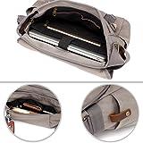 14 inch Laptop Mens Messenger Bag Vintage Grey