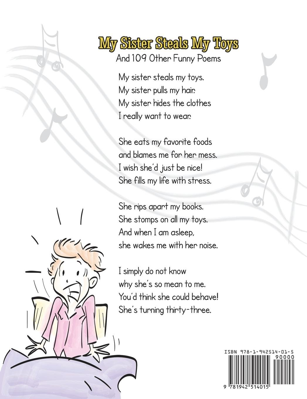 my sister steals my toys and 109 other funny poems steve hanson