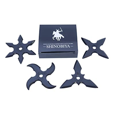 Rubber Ninja Toy Stars 4pcs Set Costume Accessory: Sports & Outdoors