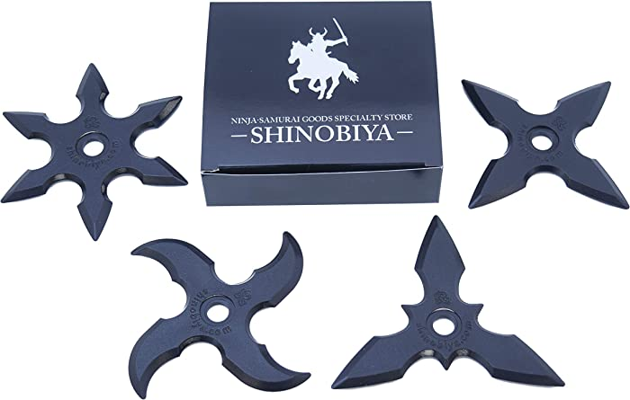 Rubber Ninja Toy Stars 4pcs Set Costume Accessory