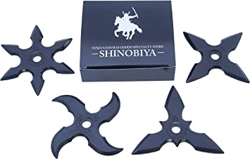 Amazon.com: hule Ninja Shuriken lanzando estrellas 4pcs Set ...