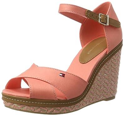 1c201bd02 Tommy Hilfiger Women s E1285lena 43d Wedge Heels Sandals