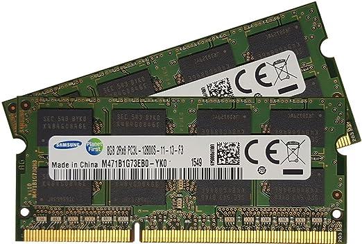 79 opinioni per Samsung 16GB (2 x 8GB) 204-pin SODIMM, DDR3 PC3L-12800, 1600MHz ram memory
