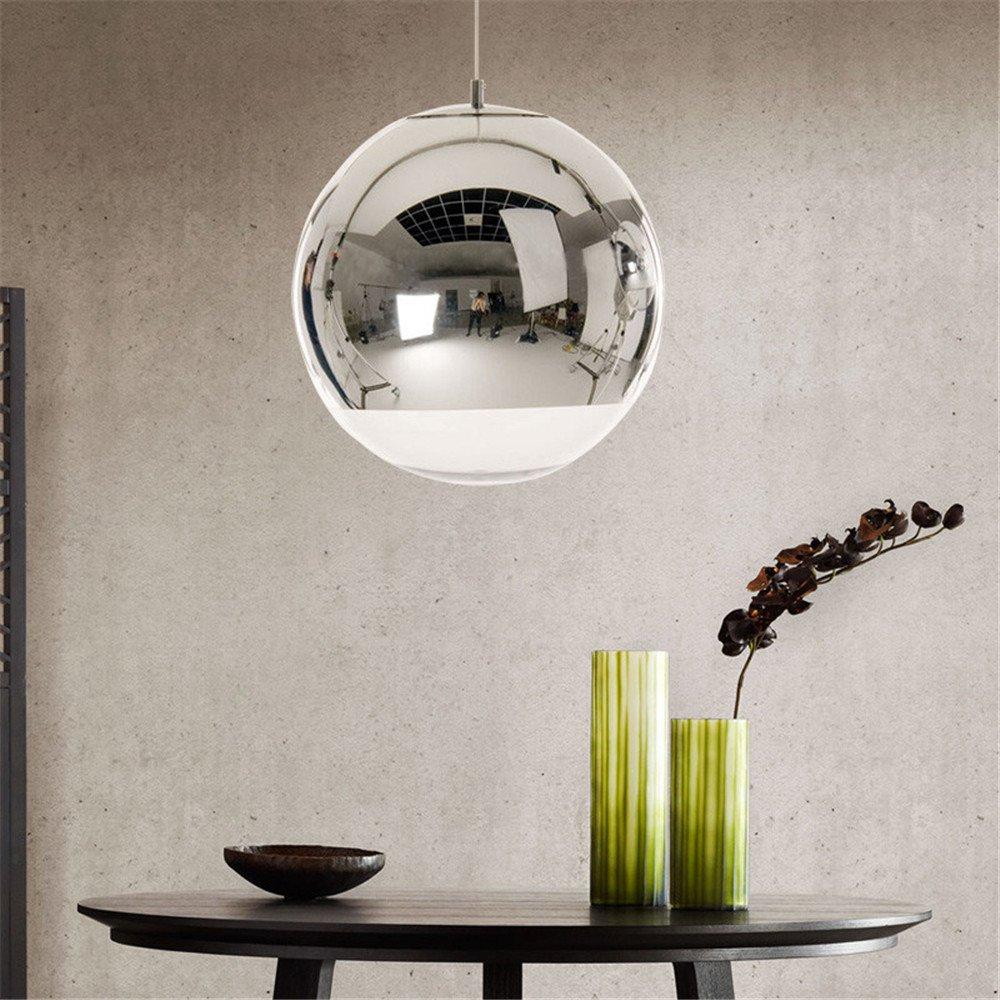 Led Clear Glass Pendant Lights Mirror Pendente Lamparas de ...