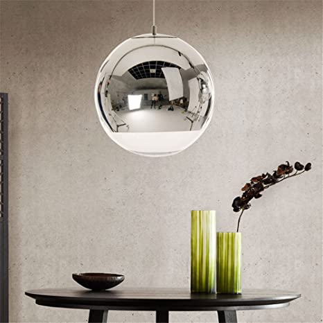 Led Clear Glass Pendant Lights Mirror Pendente Lamparas de ...